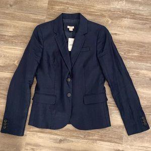 J Crew Factory Schoolboy blazer navy blue linen